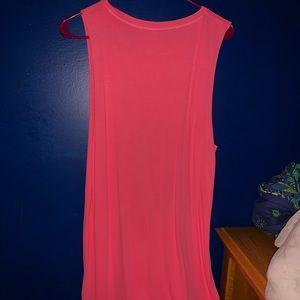 NWOT Hot Pink cotton dress